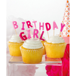 Birthday Girl Candle Cake toppers