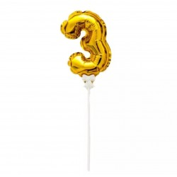 Ballon Number 3 Toppers