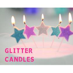 Glitter Stars Candle