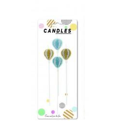 Air Ballons Glitter Candle