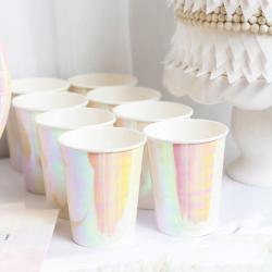 Metallic Rose Gold Pink Paper Cups