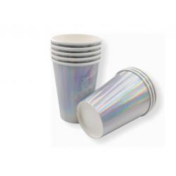 Metallic Silver Paper Cups