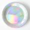 Round Metallic Silver Paper Plate