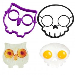Eggs & Pancakes Silicone Pans. Owls & Skull