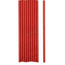 Red & Blue Metallic Paper Straw
